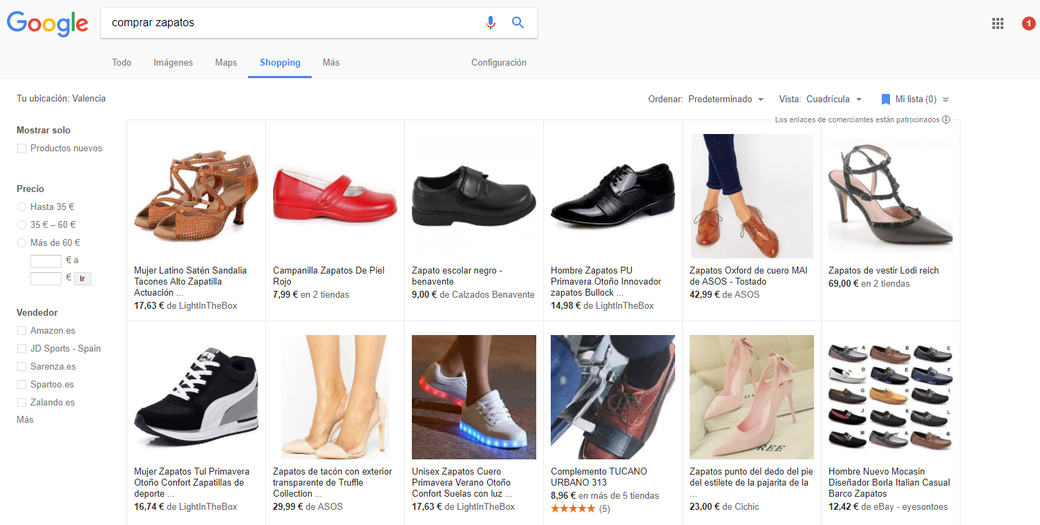 Campaña de Google Shopping: Google Adwords